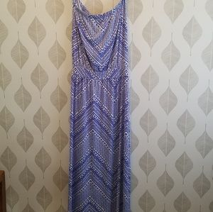 Tori Richard strapless maxi dress